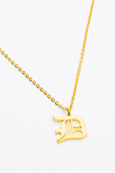 Gold Famous Gal Necklace