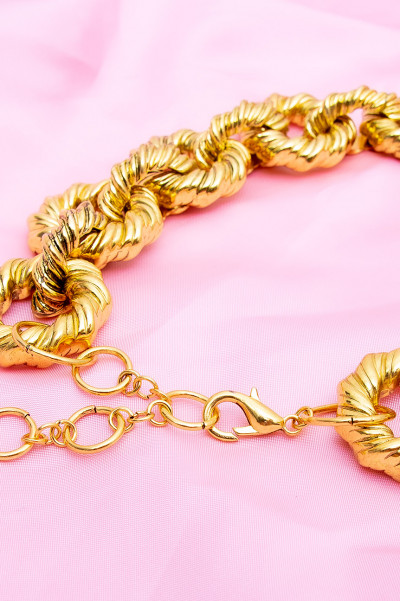 Chunky Choker Necklace - Monroe Gold