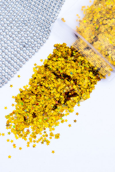 Golden Shooting Stars Loose Glitter
