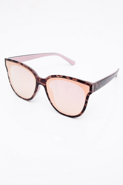 Pink Vision Reflective Leopard Sunglasses