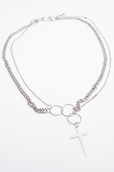 Chain Belt - Silver Cross