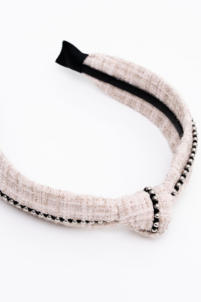 Knotted Beige Headband