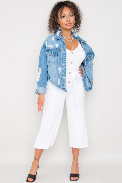 Oversized Denim Jacket - Stay In