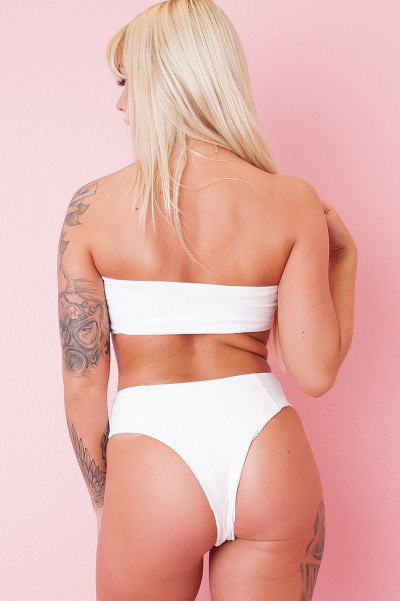 Bikini Beach Top - Slusher White