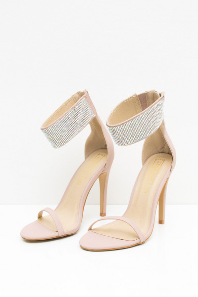 Rhinestone High Heels - Crystal