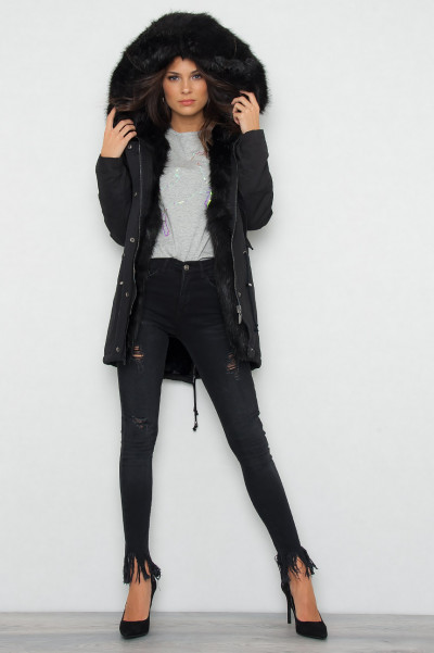 Hooded Jacket All Black - Audrey