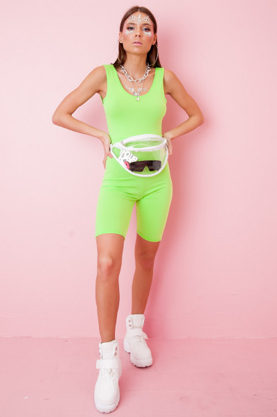 Cycling Playsuit - Stacy Green