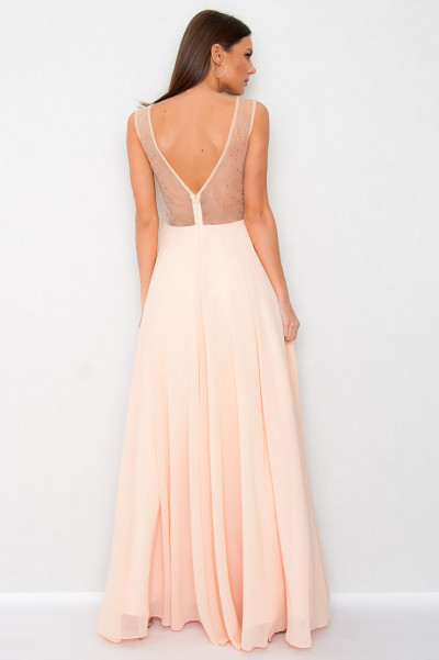 Chiffon Dress - Champagne Pinot