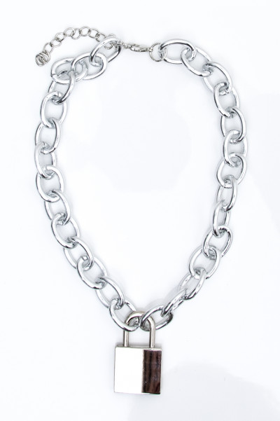 Chunky Chain Lock In Necklace
