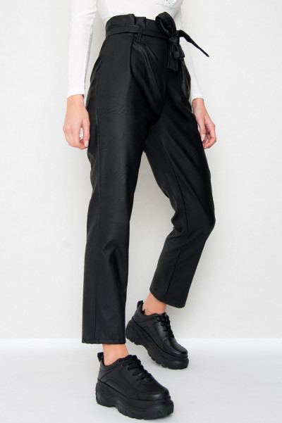 Faux Leather Trousers - Danessa