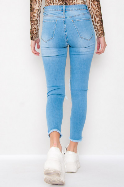 Cropped Slim Fit Jeans - Addison