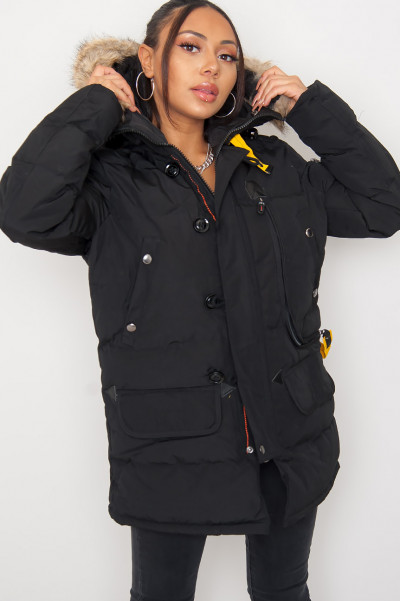 Days Like This Black Hooded Jacket
