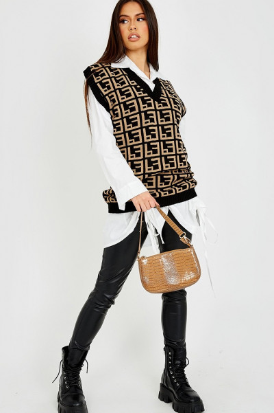 Forget It Black Knitted Vest