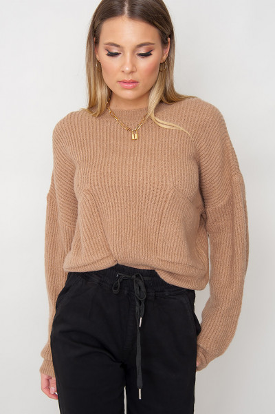 Cosy Knitted Jumper - Zoel Beige