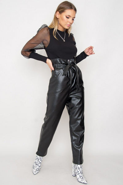 Faux Leather Pants - Alexy