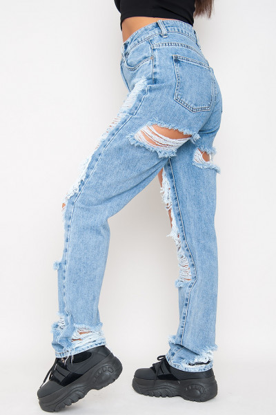 Only Exception Extreme Ripped Jeans