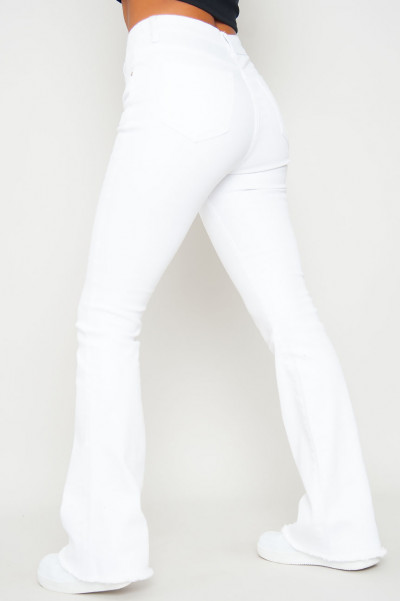 In Touch Flared White Jeans