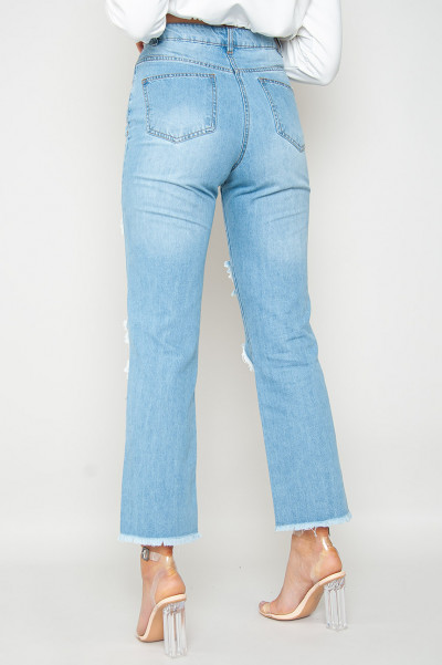 On Standby Ripped Mom Jeans