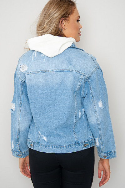 Call My Agent Ripped Denim Jacket