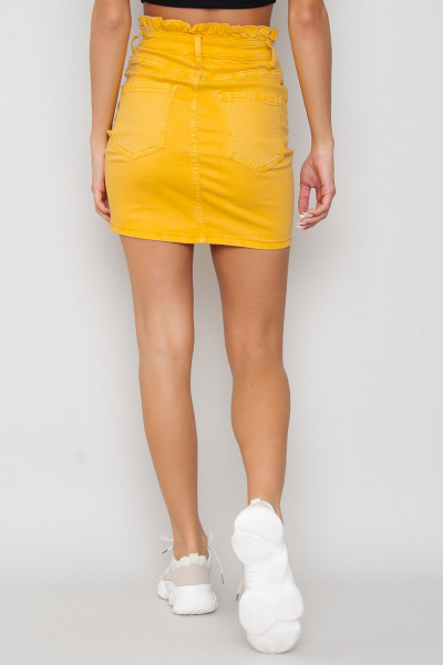 Tight Denim Elastic Skirt - Enni Gul