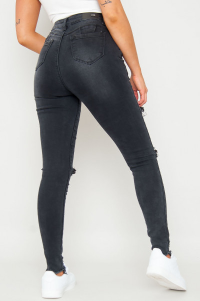 Positive Touch Ripped Skinny Jeans