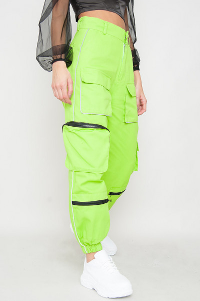 Reflective Cargo Pants - Astonia Green