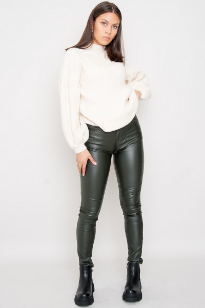 Never Simple Faux Leather Pants