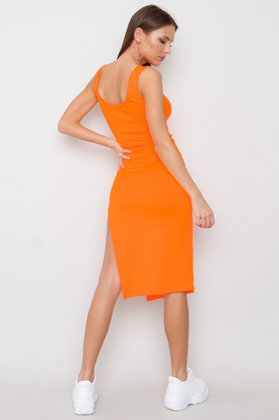 Split Bodycon Dress - Alpha Orange