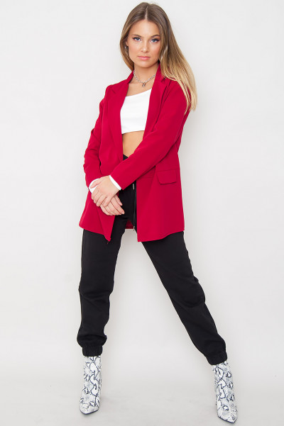 Long Sleeved Blazer - Cadie Red