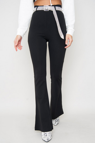 Black Flared Pants - Hallie