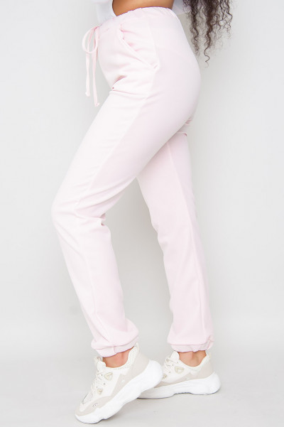 Pink Late To Meeting Casual Joggers