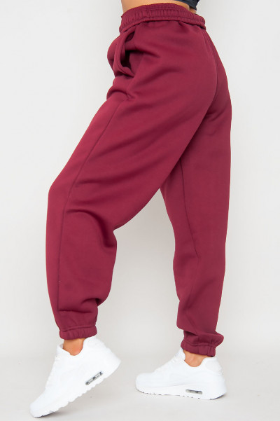 Bend The Rules Burgundy Oversized Joggers