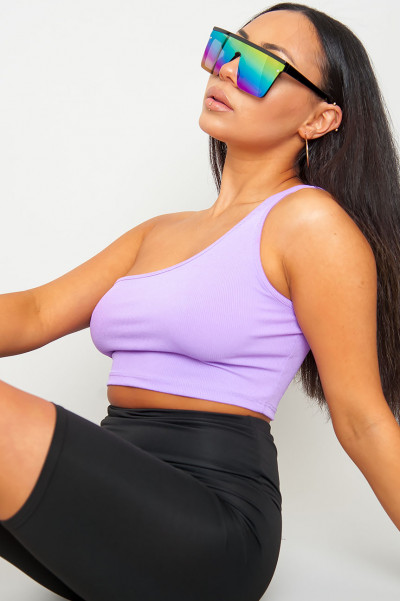 Make A Promise Lilac Crop Top