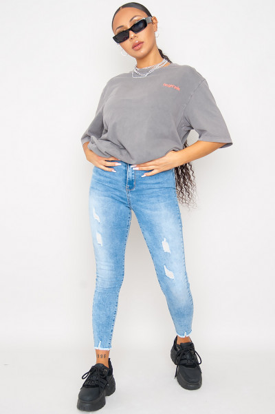 Would Not Lie Ripped Jeans