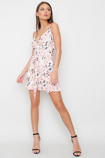 Floral Belted Dress - Morey