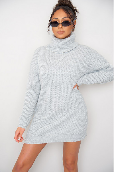 Take Ur Time Grey Knitted Dress