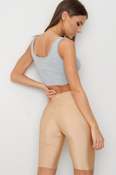 Cut Out Crop Top - Danice Grå