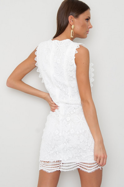 White Lace Dress - Jocy