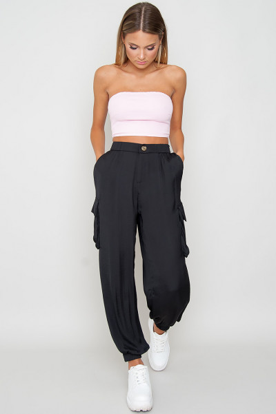 Bandeau Crop Top - Lizy Pink