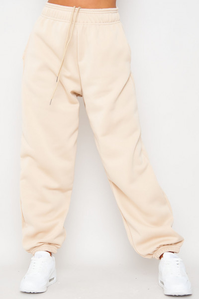 Bend The Rules Beige Oversized Joggers
