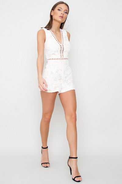 Lace Playsuit - Itachi