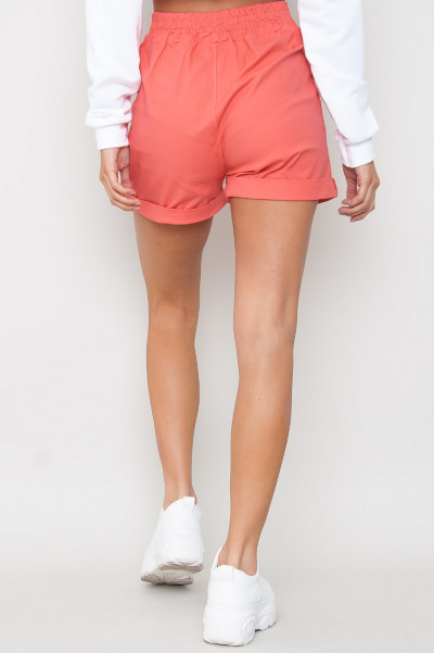 Tie Front Shorts - Yasin Corall