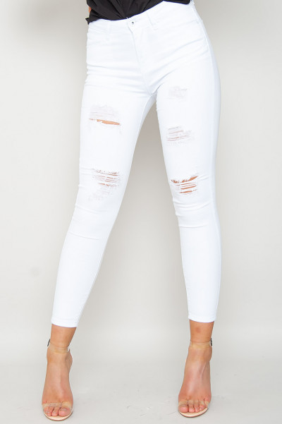 Sent From Heaven Ripped Jeans