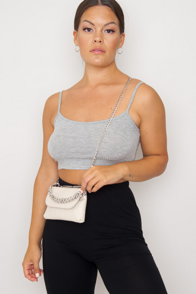 Tindy Crop Top Grey