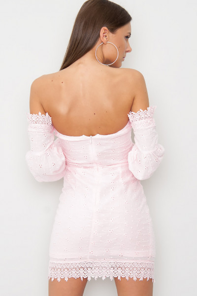 Off Shoulder Lace Dress - Taya Rosa