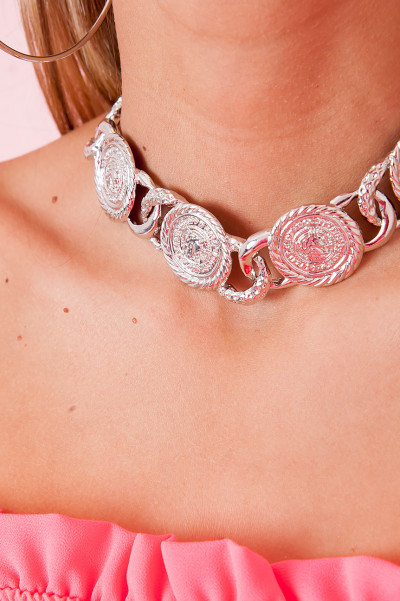 Chunky Halsband - Taine Silver