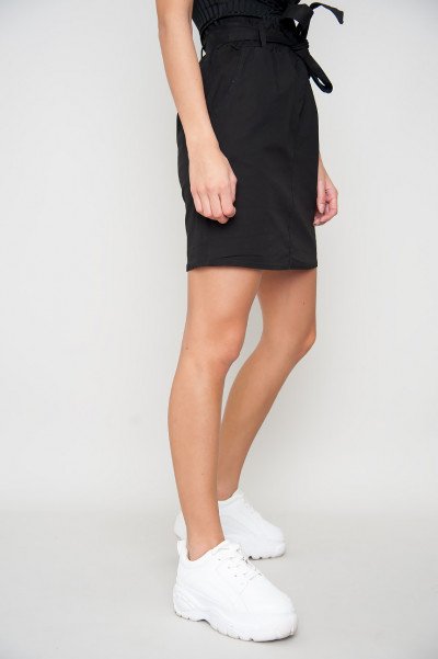 Tie Front Skirt - Pailin Black