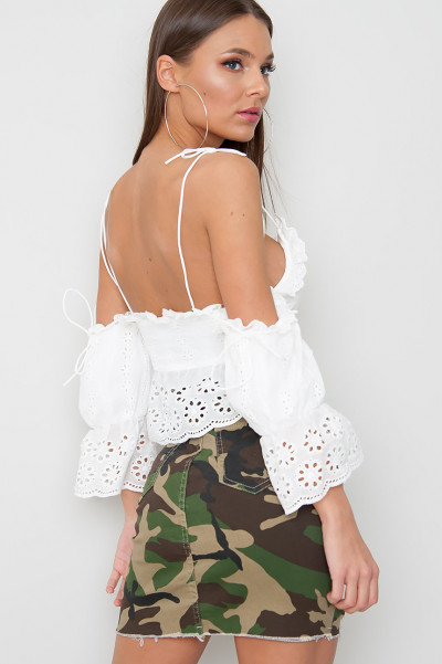 Broderie Lace Crop Top - Lorelei