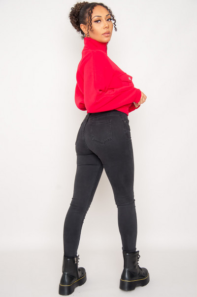What I Do Red Cropped Sweater