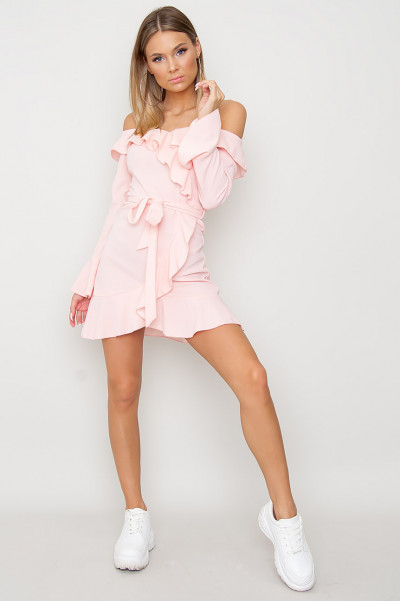 Frill Detail Belted Dress - Lindy Rosa
